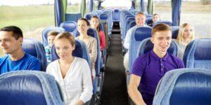 depositphotos 98336320 stock photo group of happy passengers in 300x150 - Автобусные однодневные экскурсии по Москве и городам Золотого Кольца